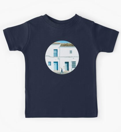 White and blue town Kids Clothes