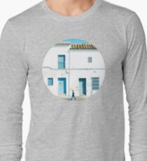 White and blue town Long Sleeve T-Shirt