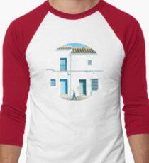 White and blue town Men's Baseball ¾ T-Shirt