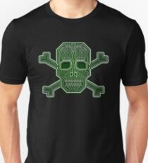 Hacker Skull Crossbones Isolated Unisex T-Shirt