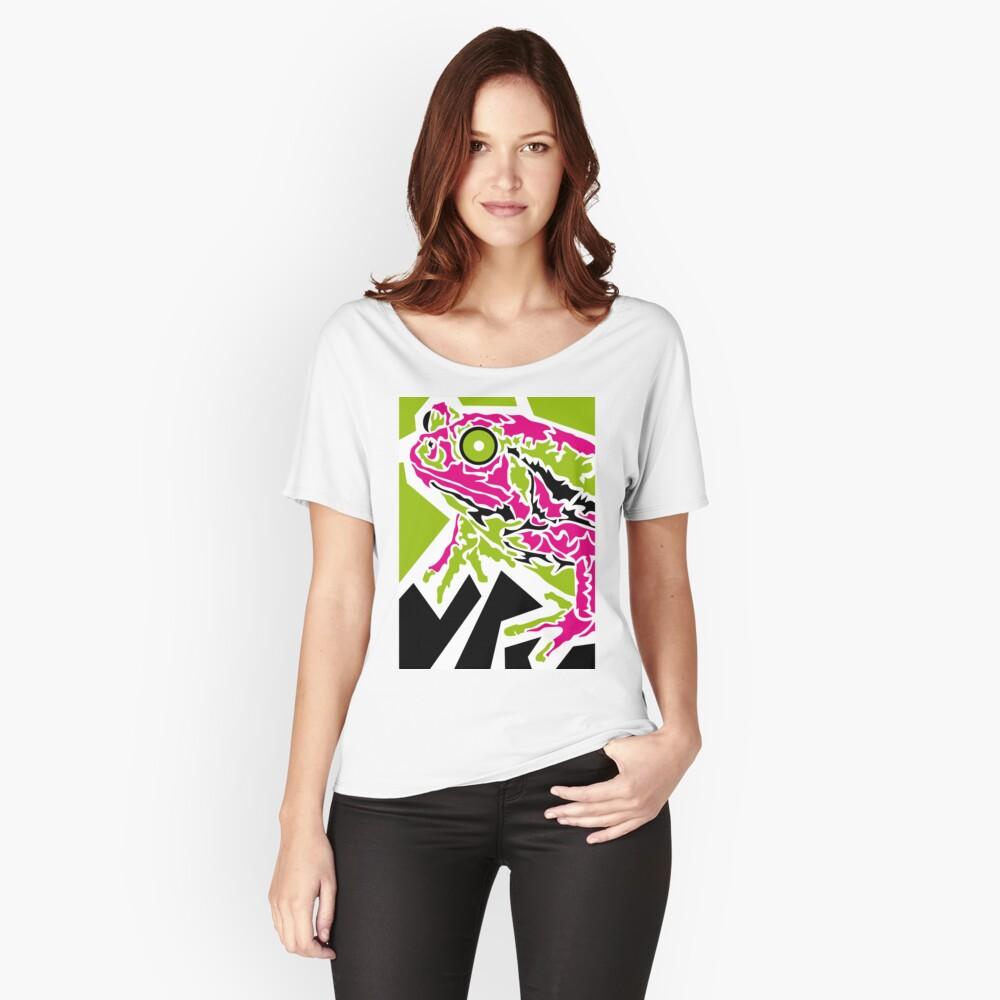 Frog Baggyfit T-Shirt für Frauen Vorne