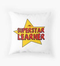Superstar Learner Throw Pillow