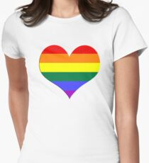 gay heart - gay, love, csd, rainbow, lesbian, pride Women's Fitted T-Shirt