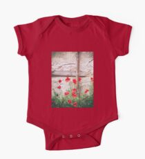 Poppies against wall One Piece - Short Sleeve