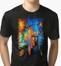 Mysterious Man at beautiful Rainbow Place Tri-blend T-Shirt