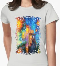 Mysterious Man at beautiful Rainbow Place Womens Fitted T-Shirt
