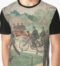 Paris Police on bicycles France 1900 Graphic T-Shirt
