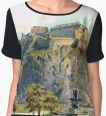 Edinburgh castle & rock circa 1900 Women's Chiffon Top