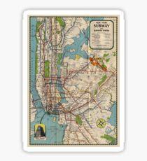 Vintage NYC Subway Map Sticker