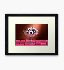 Gingerbread cookies with icing of chocolate Framed Print