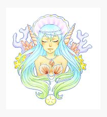 Anime Mermaid Bust Photographic Print