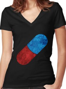 The Capsules symbol Women's Fitted V-Neck T-Shirt