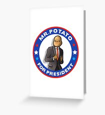 Potato President Greeting Card