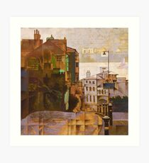 Descent to Kingswear Ferry, South Devon Art Print