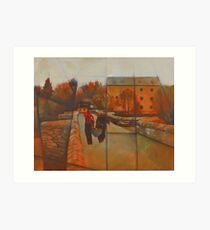 Staverton Mill Canoeing Art Print