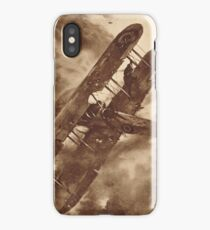 WWI Hero balancing a plane by wing walk iPhone Case