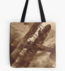 WWI Hero balancing a plane by wing walk Tote Bag