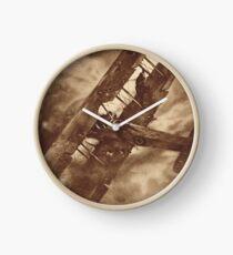WWI Hero balancing a plane by wing walk Clock