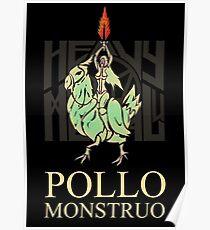 Monster Chicken HMU - Black  Poster