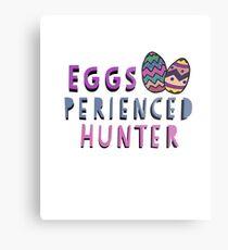 Eggs -perienced Hunter Easter Gift Metal Print