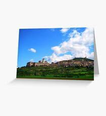 Assisi Landscape Greeting Card