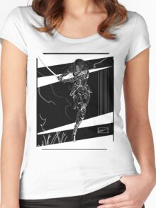 Sword Slash Attack Women's Fitted Scoop T-Shirt
