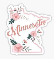 Minnesota Floral Sticker