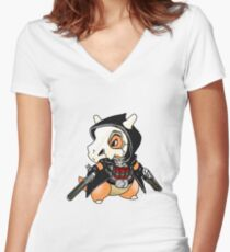 Reaper x Cubone  Women's Fitted V-Neck T-Shirt
