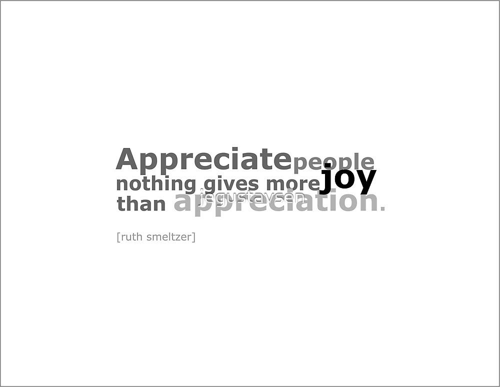 Appreciate People by jegustavsen