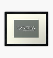 Rangers space... Framed Print