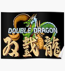 Double Dragon Pixel Art Poster
