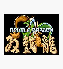 Double Dragon Pixel Art Photographic Print