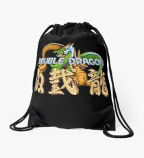 Double Dragon Pixel Art Drawstring Bag