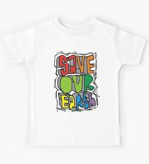 Cute quote - Save our earth Kids Clothes
