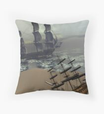 Ships Throw Pillow