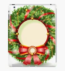Wreath Christmas with Red Ribbon iPad Case/Skin