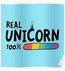 100% Real Unicorn R7yr5 Poster