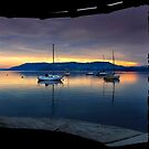 A Windermere sunset through the Square Window - English Lake District by Martin Lawrence