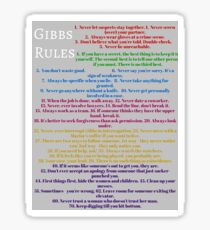 Gibbs rules  Sticker