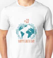 Happy Earth Day Poster in retro style T-Shirt