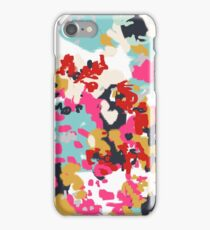 Inez - Modern abstract painting in bold colors for feminine gift ideas and trendy modern home decor iPhone Case/Skin