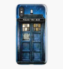 Phone booth with Yellow stained glass windows iPhone Case/Skin