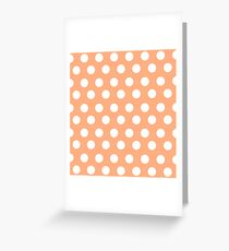 Polka over Light Orange (small dots) Greeting Card
