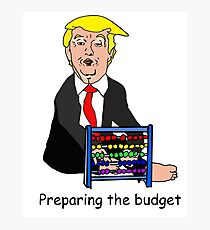 Trump - preparing the budget Photographic Print