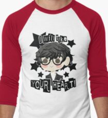Persona 5 Hero- Black Men's Baseball ¾ T-Shirt