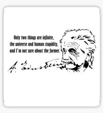 Albert Einstein Quotes Sticker