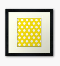 Polka over Yellow (large dots) Framed Print