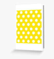 Polka over Yellow (large dots) Greeting Card