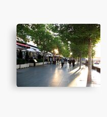 Restaurants on the side Canvas Print