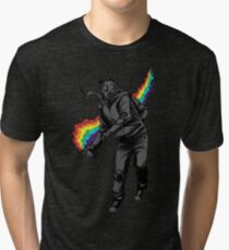 Camiseta de tejido mixto No más gases lacrimógenos